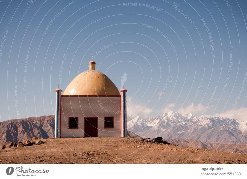 In der Höhe Natur Ferien & Urlaub & Reisen Himmel (Jenseits) Landschaft Umwelt Berge u. Gebirge Religion & Glaube Felsen Abenteuer Gipfel Schneebedeckte Gipfel