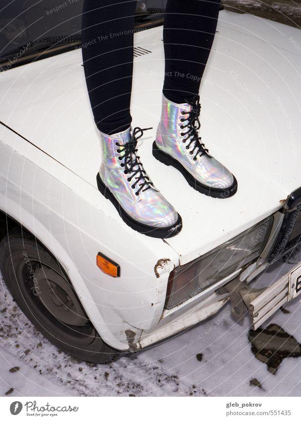 Doc #Galaxy #3 Lifestyle Stil Mensch Junge Frau Jugendliche Beine 1 18-30 Jahre Erwachsene PKW Oldtimer Strumpfhose Stiefel Gummistiefel Damenschuhe frei