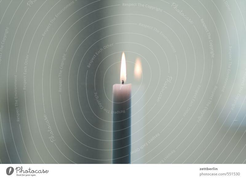 Kerze an Weihnachten & Advent Fenster Wärme Beleuchtung Anti-Weihnachten Wohnung Raum Häusliches Leben leuchten Textfreiraum Kerze Innerhalb (Position) Fensterscheibe Flamme Scheibe Lichtschein