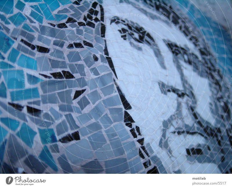 mosaik Mosaik Fototechnik che guevara Wiedervereinigung befreien befreiungskampf revolutionär blau