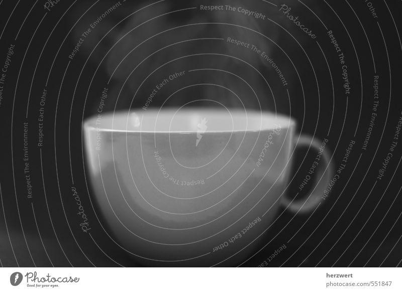 Viel Rauch um nichts Ernährung Frühstück Kaffeetrinken Getränk Heißgetränk Tee Gefühle Wasserdampf Tasse Gedeckte Farben