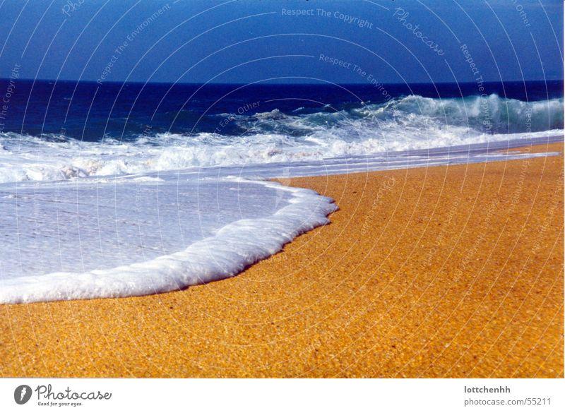 Traumstrand Sonne Meer blau Sommer Strand Ferien & Urlaub & Reisen gelb Sand Portugal Badeurlaub