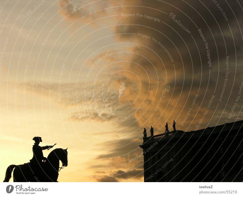 Im Auftrag Ihrer Majestät, On Her Majesty's Secret Service Himmel Wolken Tier gelb Pferd Information Statue Denkmal Vergangenheit historisch Krieg Österreich Museum König Wien Mitteilung