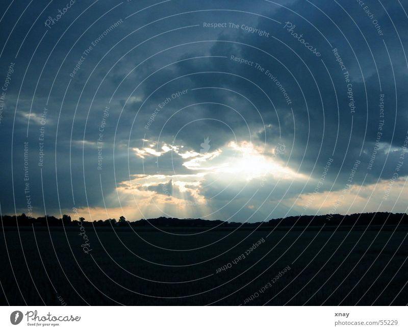 Himmels-Lichtung Wolken Waldlichtung Erkenntnis