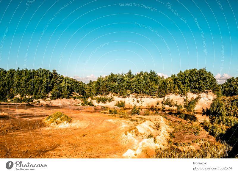 Himmel Natur Ferien & Urlaub & Reisen blau schön grün Baum rot Landschaft gelb Berge u. Gebirge Stein Sand natürlich Felsen Erde