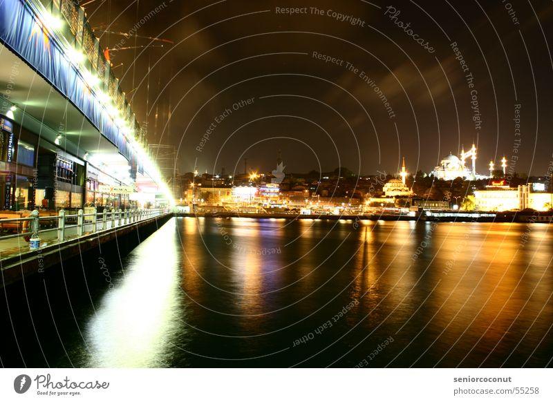 Istanbul Wasser Stadt Europa Asien Türkei Naher und Mittlerer Osten Moschee Goldenes Horn Galata-Brücke