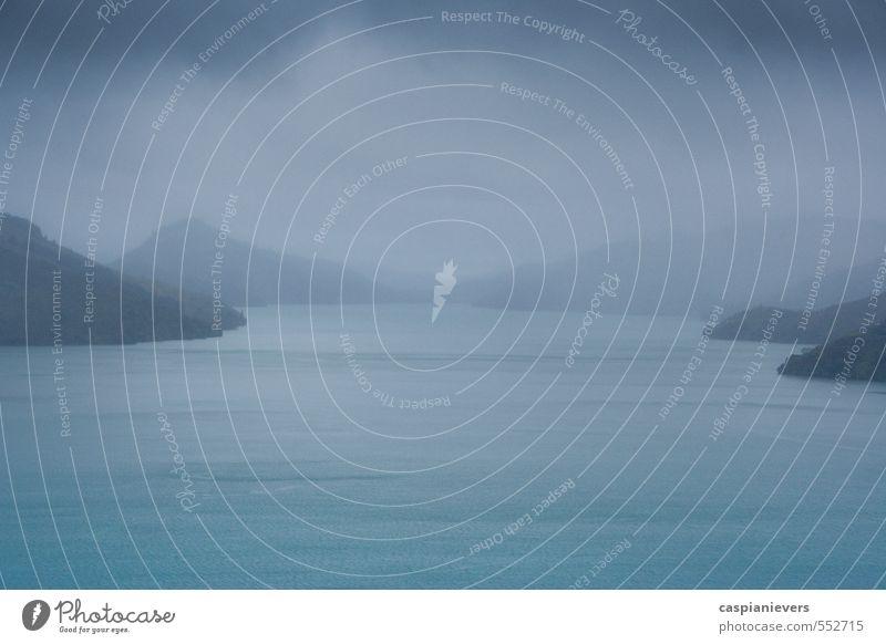 Queen Charlotte Sounds Angeln Ferien & Urlaub & Reisen Tourismus Ausflug Abenteuer Ferne Meer Fjord Umwelt Natur Landschaft Gewitterwolken Nebel Regen
