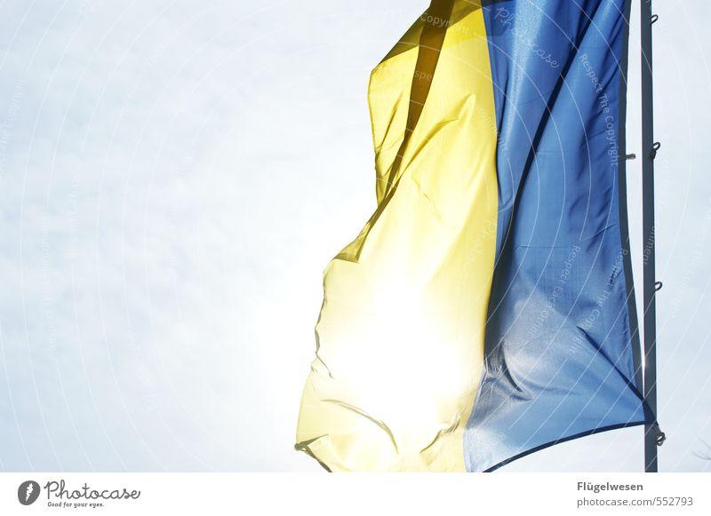 Ukrajina Mensch Ferien & Urlaub & Reisen Ferne Freiheit Tourismus modern Ausflug Europa Abenteuer Völker Fahne falsch wehen Fahnenmast Russland Sozialismus