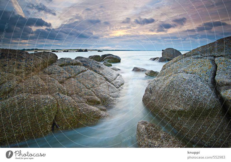 Bretagne Umwelt Natur Landschaft Urelemente Wasser Himmel Wolken Horizont Sonne Sonnenaufgang Sonnenuntergang Sonnenlicht Winter Schönes Wetter Wind Sturm