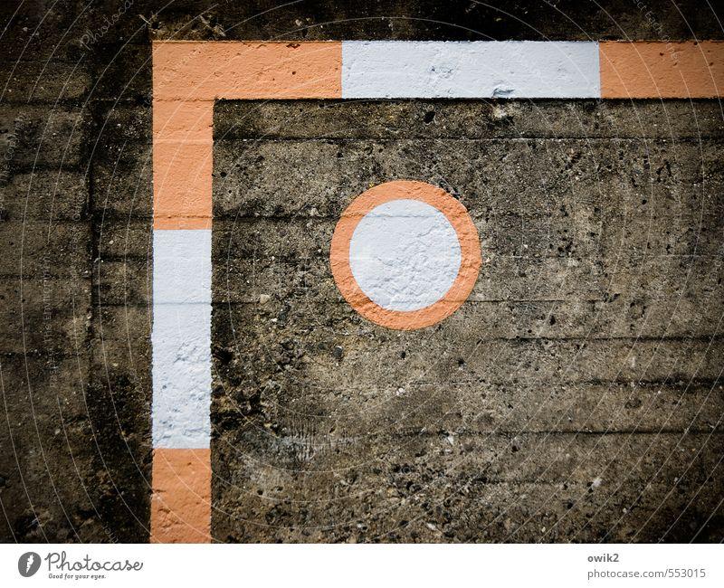 Linkes Eck Freizeit & Hobby Fußball Fußballtraining Torwand Mauer Wand Treppe Stein Zeichen eckig einfach rund orange schwarz weiß Schemata Ecke Farbe gemalt