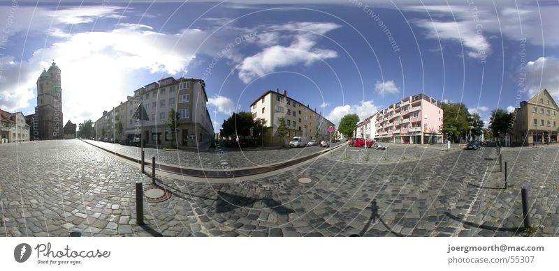 Rundumblick Himmel Sonne Stadt Sommer Haus Wolken Straße Landschaft groß Panorama (Bildformat) Braunschweig