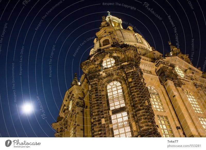 DRESdEN Frauenkirche bei Nacht Ferien & Urlaub & Reisen Kunst Stadt Hauptstadt Stadtzentrum Altstadt Menschenleer Kirche Sehenswürdigkeit Wahrzeichen Denkmal