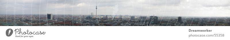 Berlin Panorama (Aussicht) Alexanderplatz Berliner Fernsehturm alex Himmel blau potzi potzdamerplatz groß Panorama (Bildformat)