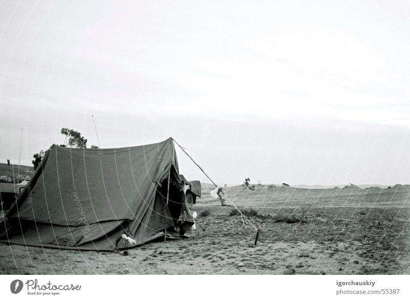 Tent Länder tent black white country open army Sand