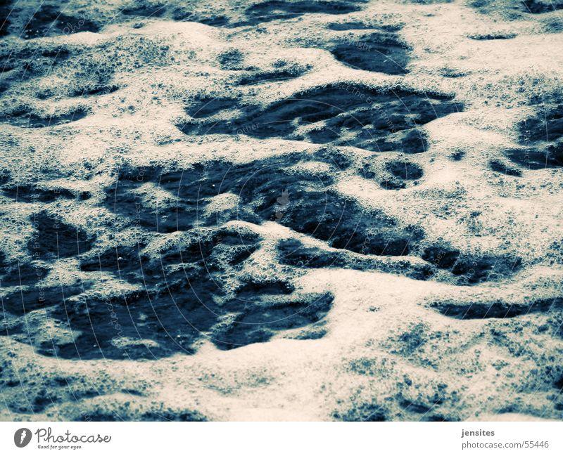 zeitstau III Natur Wasser weiß Meer blau ruhig Ostsee Schaum