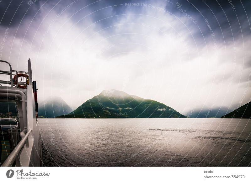 Gute Reise Himmel Ferien & Urlaub & Reisen Wasser Meer Landschaft Wolken Ferne Umwelt Berge u. Gebirge Küste Freiheit Horizont Wellen Tourismus Ausflug bedrohlich