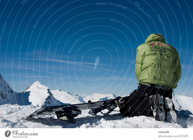 3000m Mensch Himmel Ferien & Urlaub & Reisen blau grün Ferne Winter Berge u. Gebirge Schnee Freiheit Felsen Schönes Wetter Abenteuer Alpen Schneebedeckte Gipfel Jacke
