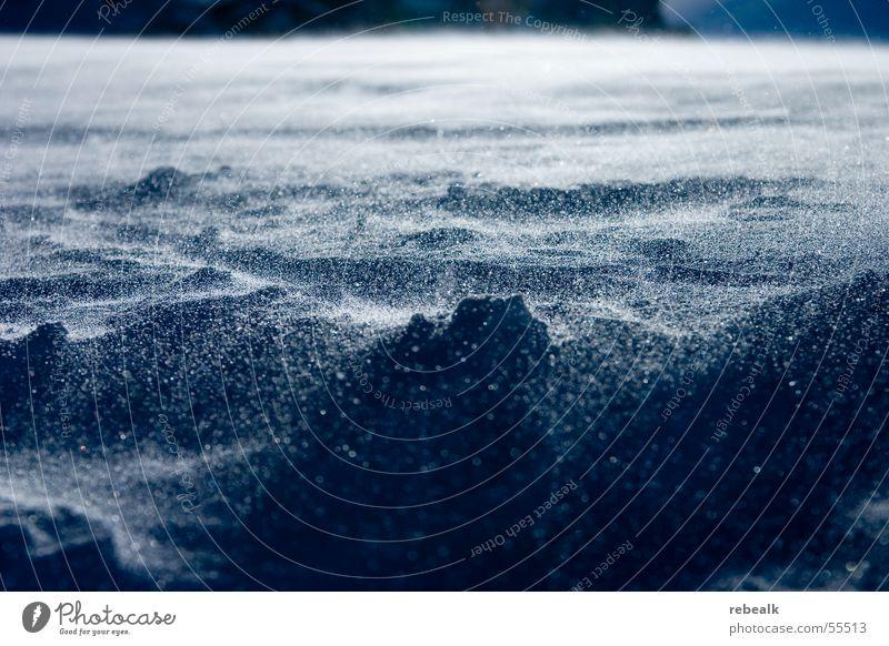schneetreiben blau weiß Ferien & Urlaub & Reisen Winter kalt Schnee Berge u. Gebirge Schneefall Eis Wetter Wind gefährlich ästhetisch Frost Alpen Schönes Wetter