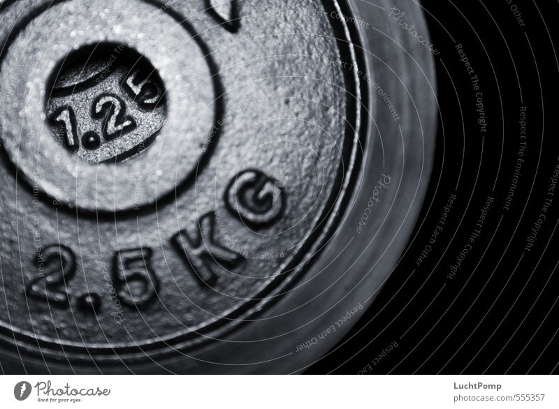 1.25 schwarz dunkel Sport Kraft Schriftzeichen Fitness Ziffern & Zahlen Loch Sport-Training Gewicht Eisen Willensstärke rau schwer Gewichte