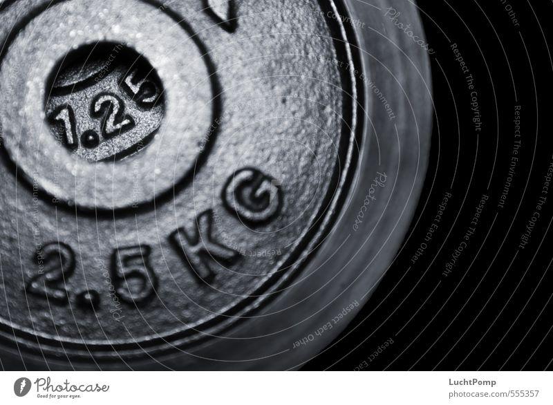 """1.25 Sport Fitness Sport-Training Willensstärke diszipliniert Kraft """"2,5"""" Ziffern & Zahlen Kilogramm Eisen schwarz Schatten rau Licht Reflexion & Spiegelung"""