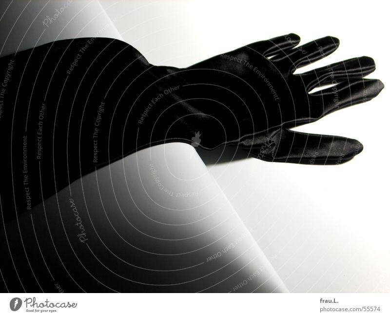Handschuh schwarz feminin Feste & Feiern elegant Bekleidung Club Reichtum Handschuhe ausgehen Gala Satin Abendgarderobe