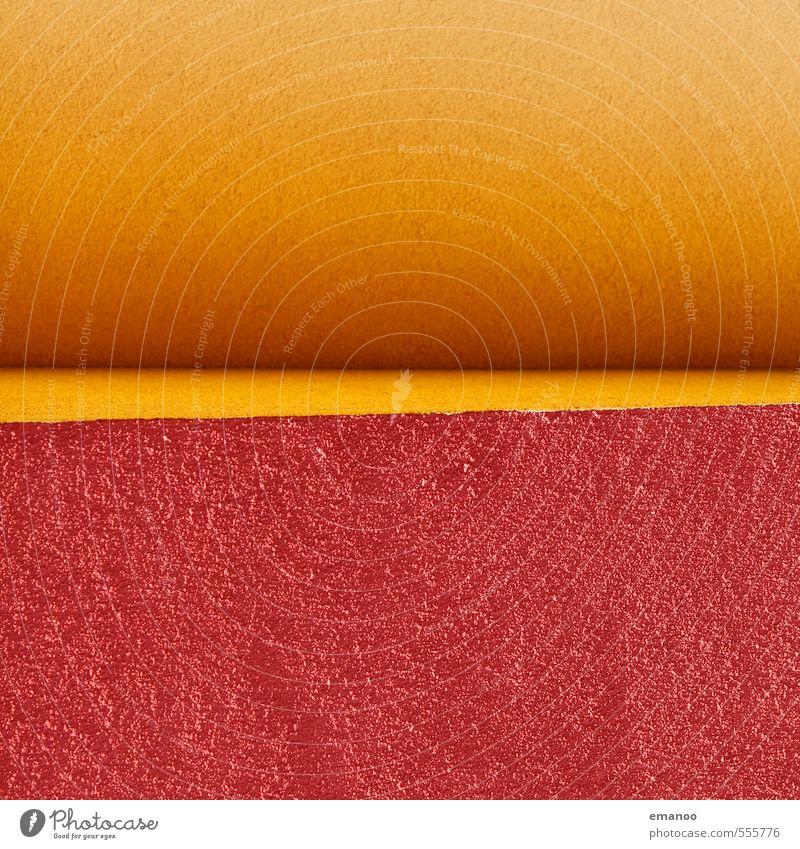 Kante Haus Bauwerk Gebäude Architektur Mauer Wand Fassade Graffiti gelb rot ästhetisch Design Kunst Ecke Farbe Betonboden Putz rau Verlauf hell Quadrat Am Rand