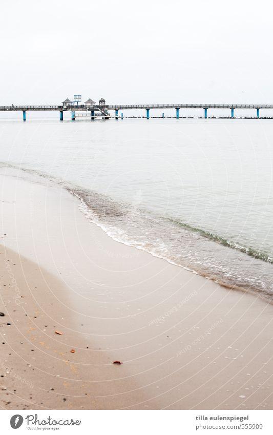 Du suchst das Meer Ferien & Urlaub & Reisen Tourismus Ausflug Strand Winter Wasser Himmel Horizont schlechtes Wetter Ostsee Insel kalt ruhig Einsamkeit maritim