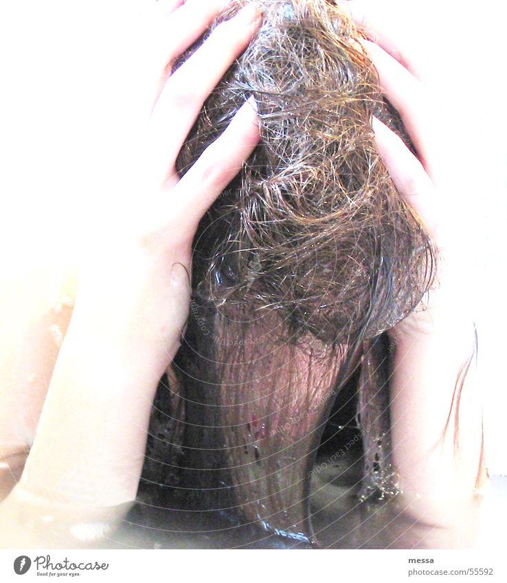 baden Badewanne Verzweiflung Hand Schwimmen & Baden Wasser verwuschelt