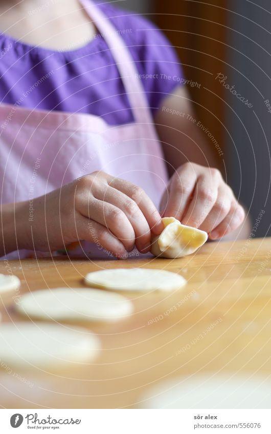 mit Fleisch gefüllte Teigtaschen Kind Hand Leben feminin Essen Lebensmittel Kindheit Ernährung Kochen & Garen & Backen lecker Kleinkind Abendessen Fleisch Mittagessen Teigwaren 3-8 Jahre