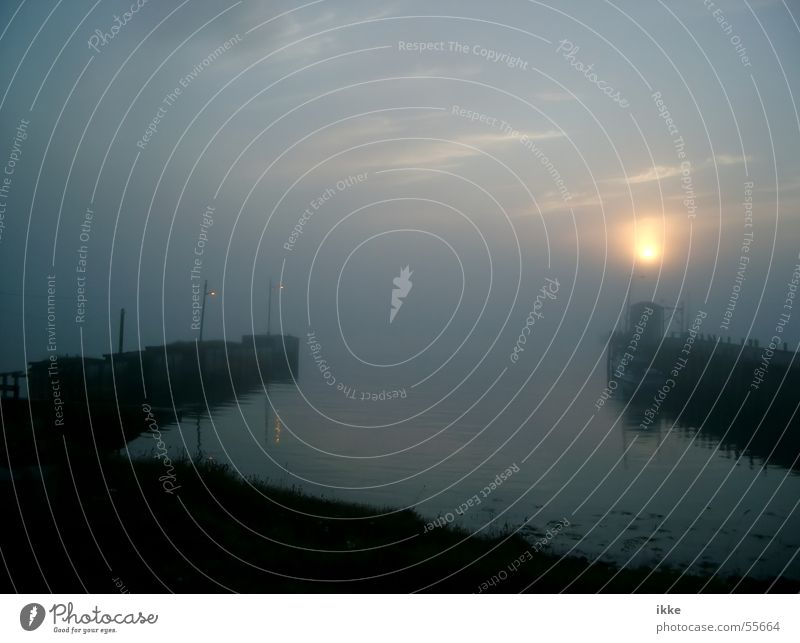 Nova Scotia Sunset Wasser Sonne Meer ruhig Nebel Hafen Anlegestelle Abenddämmerung Mole