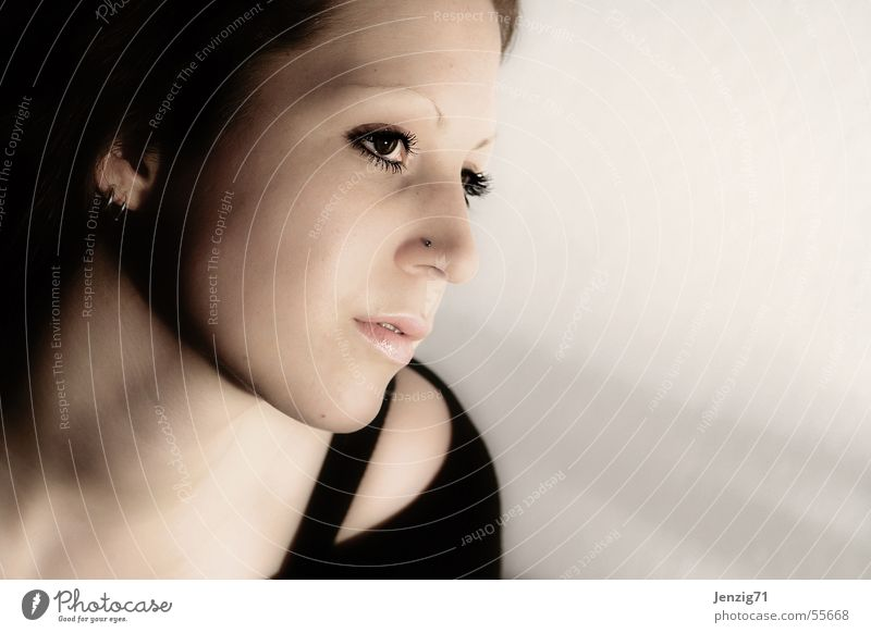 Ein Traum. Frau Gesicht Auge träumen weich sanft