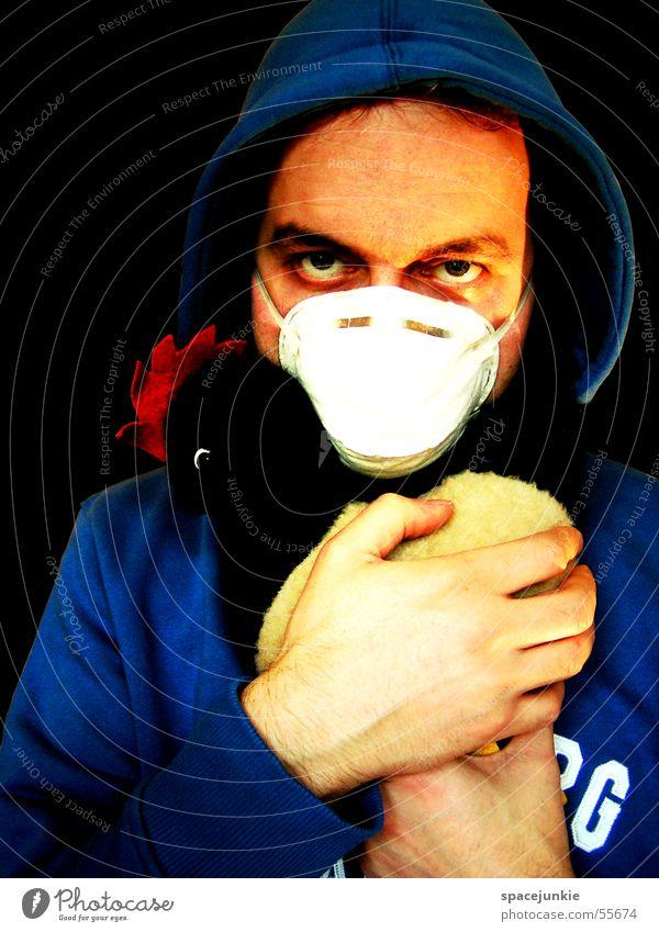 Armes Huhn Mensch Hand Auge Haushuhn Mundschutz Stofftiere Seuche Vogelgrippe