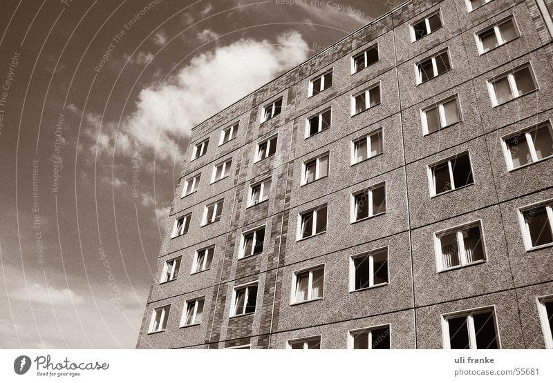 Plattenbau Himmel Haus Fenster Hochhaus