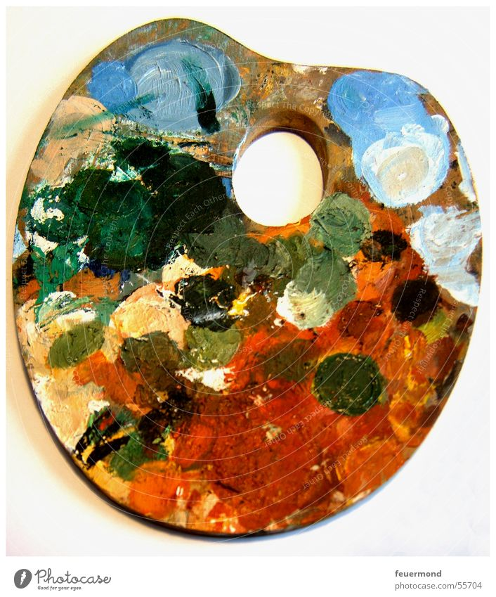 Bunt, bunt, bunt.... grün blau rot Farbe Kunst streichen Gemälde Erdöl Künstler geschmackvoll Paletten Acrylfarbe Ölfarbe