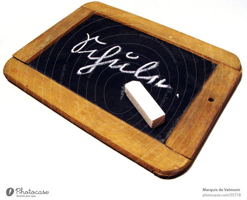 Schreib mal wieder alt Holz Schule lernen lesen schreiben Tafel Schüler Rahmen Kreide Nostalgie Lehrer Schulunterricht Bildung Lateinische Schrift
