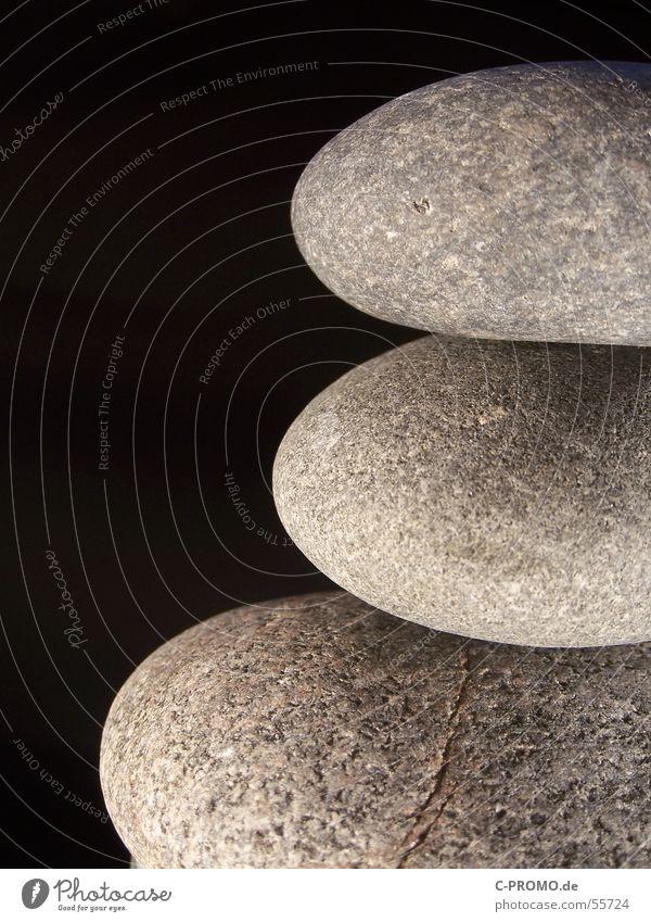 Naturlego Zen 3 schwarz Makroaufnahme Zufriedenheit Erholung Zusammensein Stein Mineralien Nahaufnahme stones three black