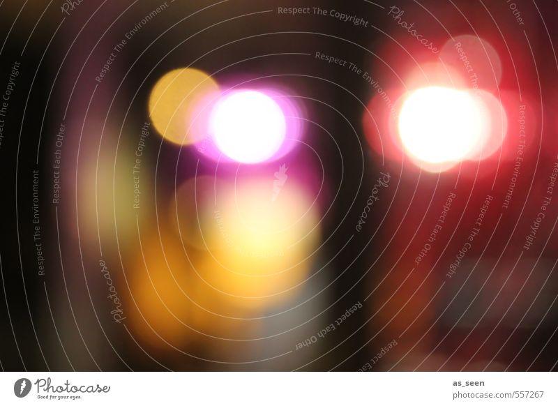Citylights Stadt Farbe weiß rot gelb Bewegung Mode braun Stimmung hell rosa orange Design leuchten ästhetisch Energie