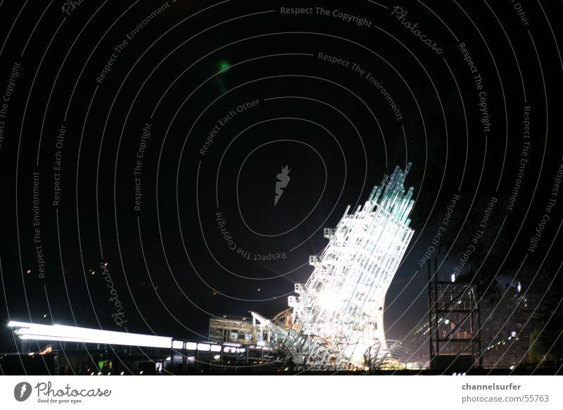 Festspiele Bregenz Gebäude See Bühne Licht abstract Show Scheinwerfer hell Publikum Architektur