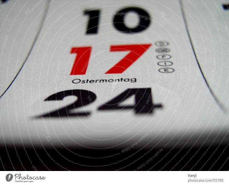Ostermontag Ostern 17 April Feiertag Montag Papier Blatt Ziffern & Zahlen 10 Kalender zifern 24 Termin & Datum