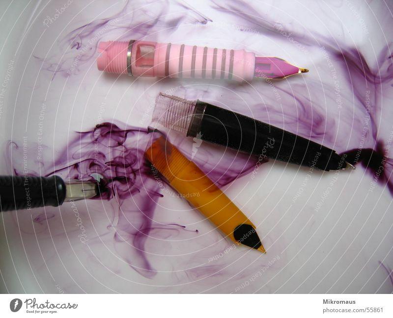 Schreib mal wieder - die Zweite Tinte Wasser Füllfederhalter schreiben Farbe Farbstoff mehrfarbig Reinigen Schreibgerät obskur Schmiererei