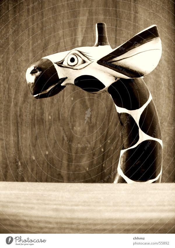 Dumbo Holz fliegen Ohr Dekoration & Verzierung Spielzeug grinsen Horn Skulptur Hals Giraffe
