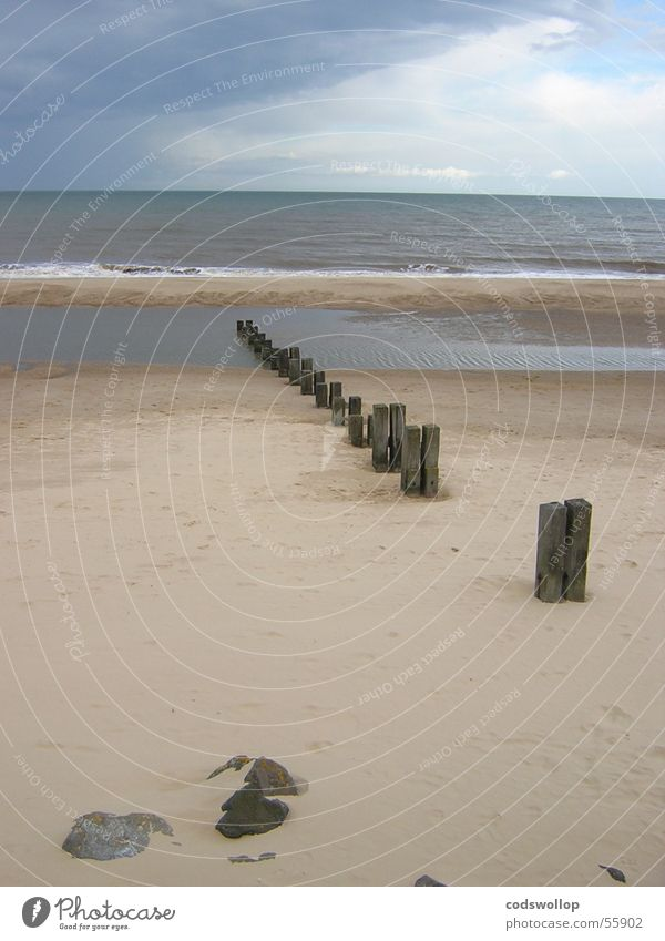 buhne Himmel Strand Küste Sturm England Buhne Großbritannien Gorleston