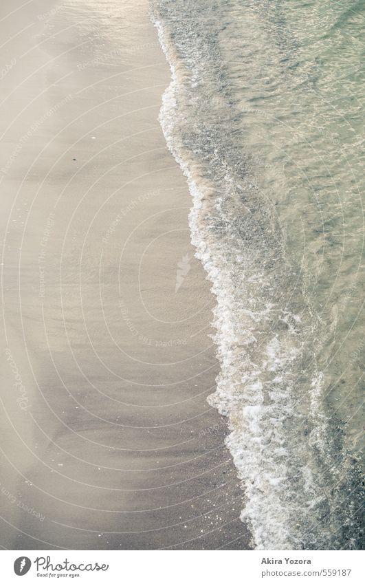 Welle Strand Sand Meer Wasser Wellen nass Natur natürlich Ferien & Urlaub & Reisen Erholung ruhig