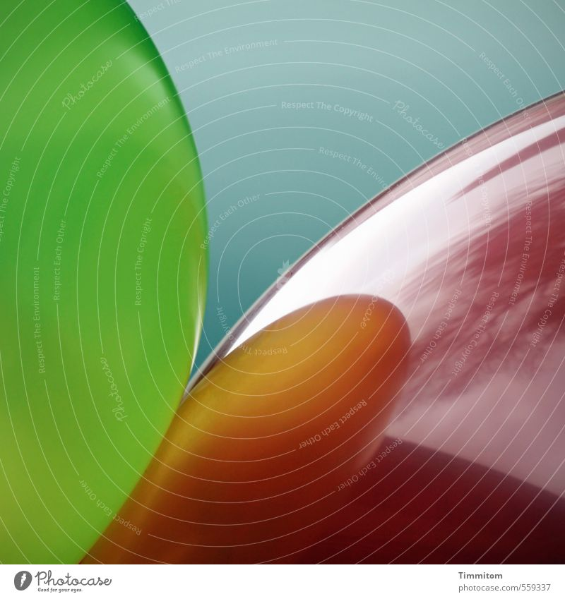 piekst| eeecht? cool! blau grün rot Freude Feste & Feiern Linie ästhetisch einfach berühren Luftballon Kurve