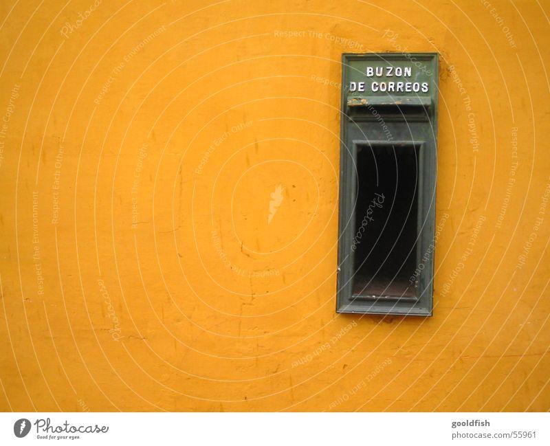 post gelb Wand Hintergrundbild einfach Post