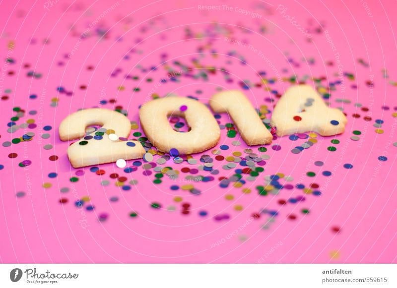 Vorfreude II Weihnachten & Advent Freude Essen 1 Feste & Feiern Lebensmittel rosa liegen 2 Dekoration & Verzierung mehrere Fröhlichkeit Ernährung Lebensfreude Ziffern & Zahlen Kitsch