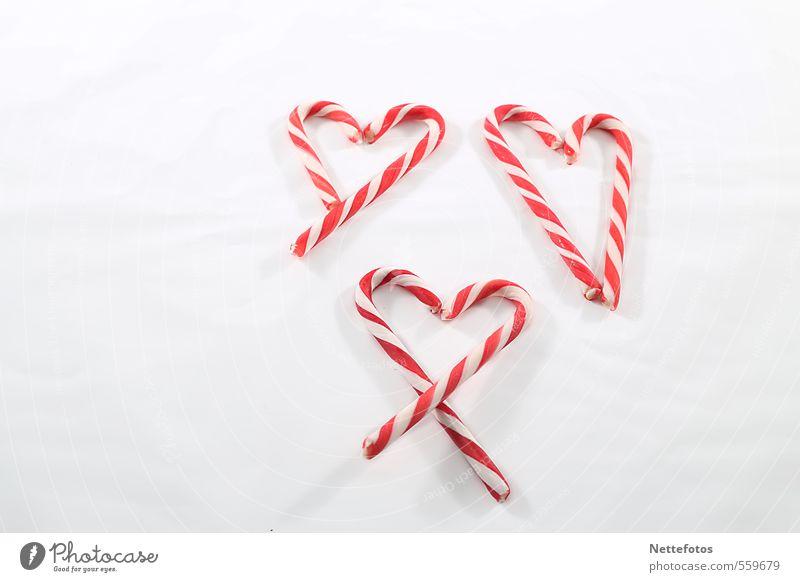 Zuckerherzen Lebensmittel Süßwaren Valentinstag Muttertag Weihnachten & Advent Herz rot weiß Gefühle Glück Liebe Verliebtheit Farbfoto Studioaufnahme
