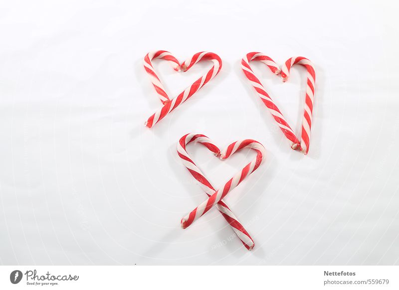 Zuckerherzen Weihnachten & Advent weiß rot Liebe Gefühle Glück Lebensmittel Herz Süßwaren Verliebtheit Valentinstag Muttertag