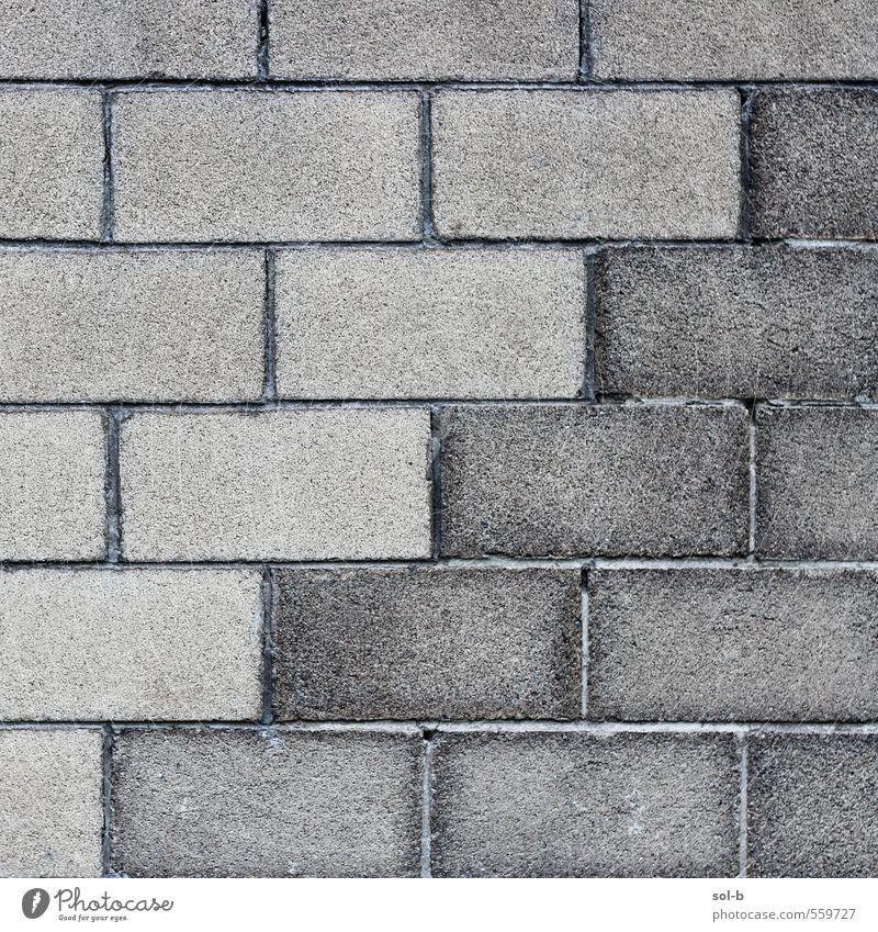 w a l l l l Mauer Wand Beton Backstein ästhetisch einfach Stadt grau Müdigkeit Erschöpfung Design einzigartig Rätsel Symmetrie Trennung Beitritt harmonisch