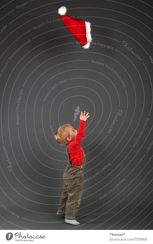 advent, zweiter akt Mensch Kind Weihnachten & Advent Freude Leben Bewegung Junge Spielen klein Kindheit Fröhlichkeit niedlich Mütze Kleinkind fangen frech